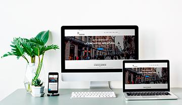 Desarrollo web de negocio de arquitectura